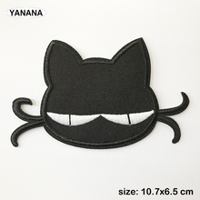Black cat cartoon Embroidered Iron on stickers DIY individual personality Clothing
