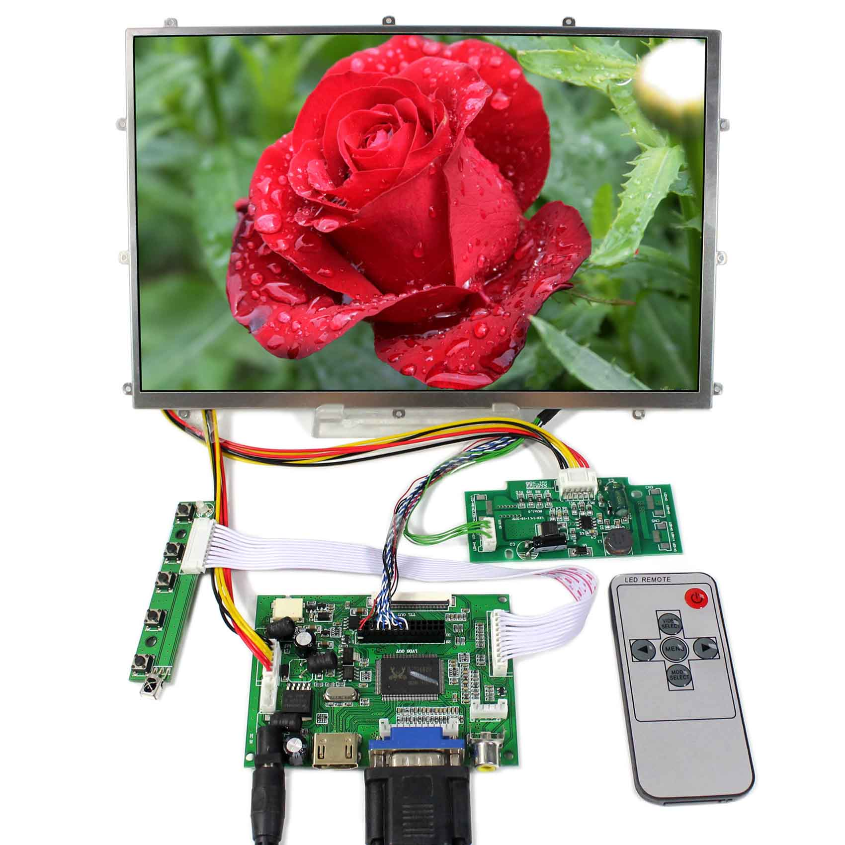 LCD Controller Board LCD Display 1280X800 B101EW04 10.1 Touch LCD Screen HDMI AV DVI ACC LCD Board LCD Controller Board LCD Display 1280X800 B101EW04 10.1 Touch LCD Screen HDMI AV DVI ACC LCD Board