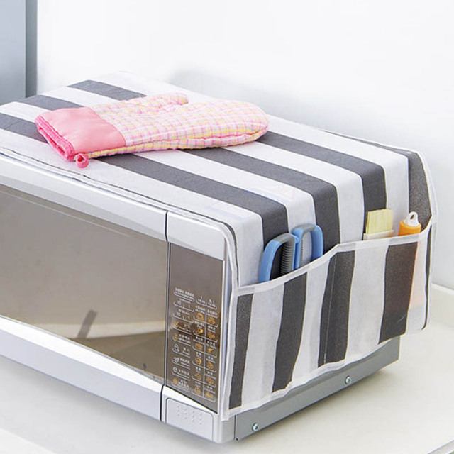 Waterproof 1pcs Grease Proofing Storage Bag Kitchen Accessories Double Pockets  Dust Covers Microwave Cover Microwave Oven Hood