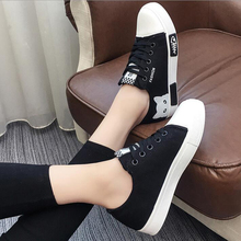 Women Cartoon Cat Flats Canvas Shoes Outdoor Lace Up Casual Board Sneakers Round Toe White Black Pink Shoes Girls Fashion Shoes merry christmas design cartoon dog cat printed reindeer canvas shoes black women casual flats outdoor espadrilles zapatos mujer