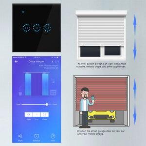 Image 3 - Smart Home WiFi Elektrische touch smart Jalousien vorhang schalter Ewelink APP Voice Control durch Alexa Echo google home Jalousien Motor