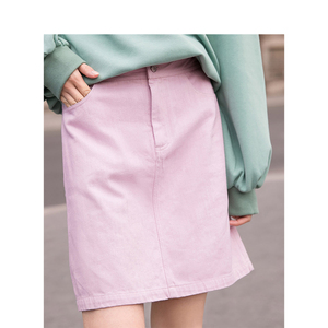 Image 3 - INMAN Spring High Waist Retro Artistic Style Korean Student A Lined Chick Short Skirt