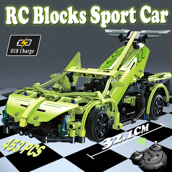 Technic RC Car Sports Car Model DIY Building Blocks toy  Remote Control cars Toys For Children toys for boys