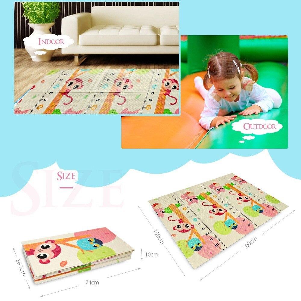 Tapis de jeu pour bébé XPE Double face Puzzle enfants tapis épaissi Tapete Infantil chambre ramper tapis pliant tapis bébé - 2
