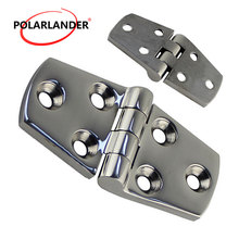 1 Piece marine grade Strap Butt Hinge  76*38MM 316 stainless steel  6 Holes Deck Door Hatch Locker Hardware for Boat Marine