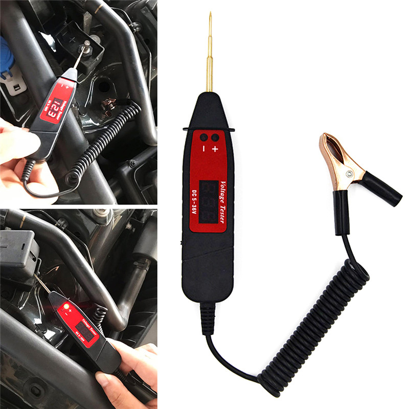 US $13 4 20% OFF|Universal 5 48V Automotive LCD Digital Circuit Tester  Electric Voltage Test Power Probe Circuit Diagnostic Tool Car  Accessories-in