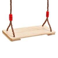 Дети Крытый открытый деревянный плоский качели сиденье садик за домом весело детская площадка Swingset игрушка