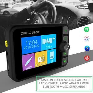 Image 2 - השתפר אופנה צבע מסך רכב DAB רדיו דיגיטלי רדיו מתאם עם Bluetooth הזרמת מוסיקה