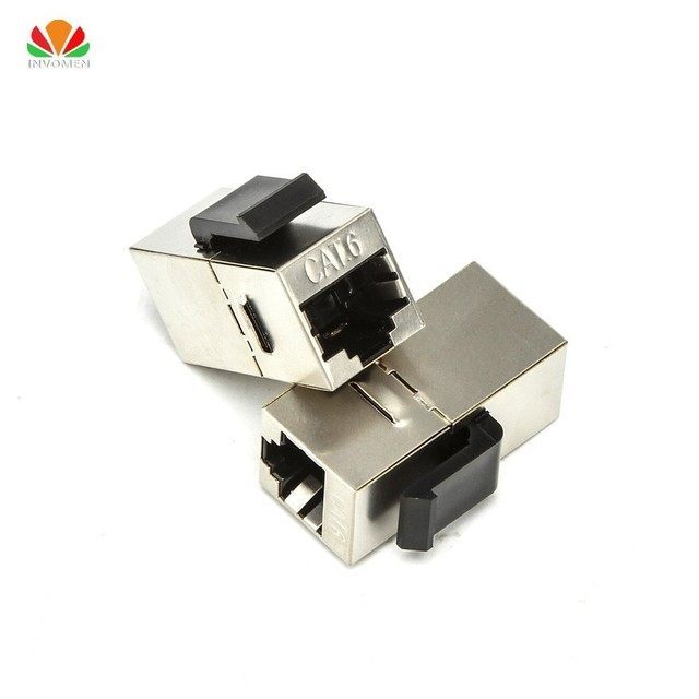FTP CAT5e CAT6 Straight Through Module shielded RJ45 Connector INFO Socket Ethernet coupler Network Cable Adapter Keystone Jack