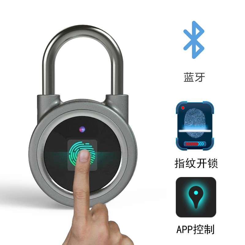 bluetoothFingerprint padlock intelligentOutdoor door padlock Luggage lock warehouse Dormitory mobile phone APP software controlbluetoothFingerprint padlock intelligentOutdoor door padlock Luggage lock warehouse Dormitory mobile phone APP software control