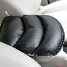 Черный автомобильный чехол для сиденья универсальный автомобильный-Стайлинг автомобильный коврик для сиденья коврик кожа центральный подлокотник консольный ящик подлокотник сиденье защитный мягкая прокладка для локтя