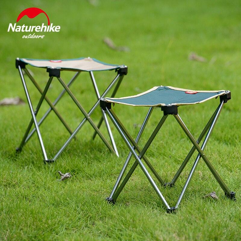 Naturehike Outdoor Foldable Folding Aluminum Fishing Sketch Chair Fishing Picnic BBQ Garden Chair Tool Camping Stool NH15D012-B