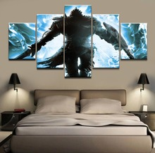 5 Panel Modern Canvas Printed Game Dark Souls Wall Art Painting Decoration Poster Home Decor Living Room Picture Artwork