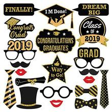 2019 Graduation DIY Photo Booth Paper Props Kit Season Party Ceremony Dress Up Supplies