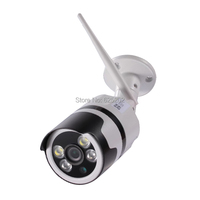 Two way Audio 1080P 2.0MP Bullet Wireless TF Card Network Waterproof Camera with White LED and IR LED