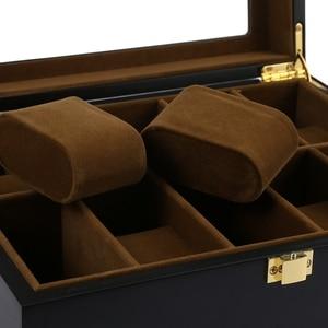 Image 5 - 10 Grids Holz Uhr Box Schmuck Display Lagerung Inhaber Organizer Uhr Fall Schmuck Dispay Uhr Box