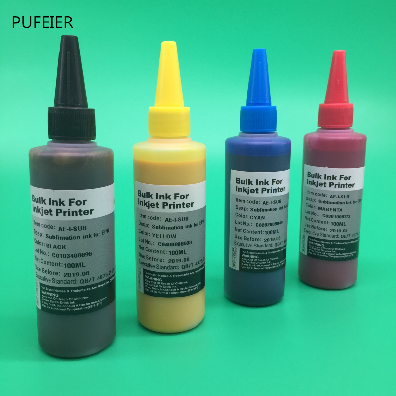 4 Bottles x 100ML T0631-T0634 Sublimation Ink For Epson Stylus C67 C87  CX3700 CX4100 CX4700 Heat Transfer Ink Printer