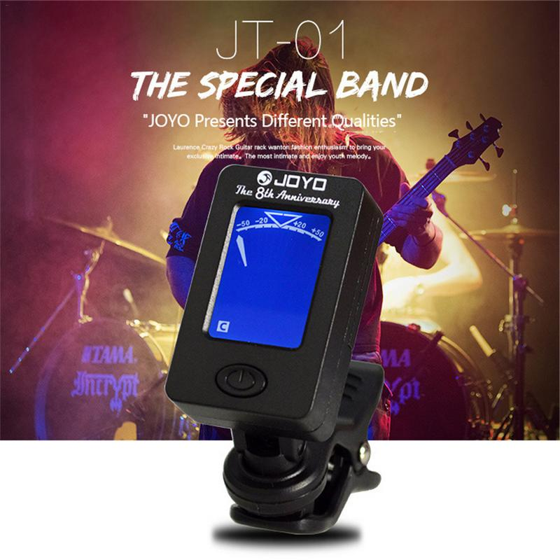 Clip-on Guitar Tuner Ukulele Violin Bass Tuner with Rotating Clip High Sensitivity Ukulele Guitar Parts & Accessories