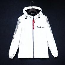 Reflective Jacket Anorak Windbreaker Rave Clothes College Streetwear Men's Hip-Hop Modis
