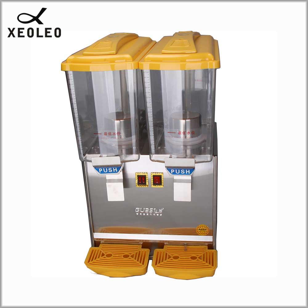 XEOLEO Double pots boisson Froide machine 17L * 2 jus de fruits distributeur boisson machine 280 w chauffage 1000 w Cool fabricant de boisson