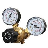 Hot Sale Mini Argon CO2 Gas Bottle Pressure Regulator MIG TIG Welding Flow Meter Gauge W21.8 1/4 Thread 0 20 mpa