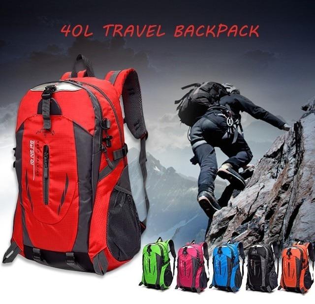 Waterproof Climbing Backpack Rucksack 40L Outdoor Sports Bag Travel Backpacks Camping Hiking Backpack Men Women Trekking Bag