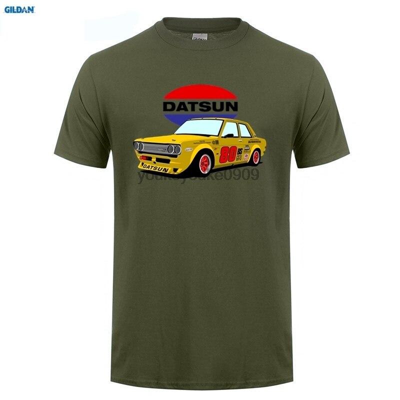 GILDAN  mans t shirts brand summer Datsun Stripes Mens O-Neck Short Sleeve T-Shirt Classical T Shirts For Men shirt