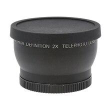 52 мм 2X телеобъектив для цифровой камеры Canon Nikon sony