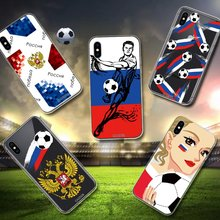 CASEIER Football Patterned Phone Cases Soccer Soft Silicone TPU Cover For iPhone 6 6s 7 8 Plus X Russian Series Funda Capinha