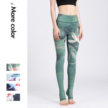 Stretched Printed Yoga Pants Women Sports Pants Fitness Running Sexy Push Up Gym Wear Elastic Slim Workout leggings Trousers 1