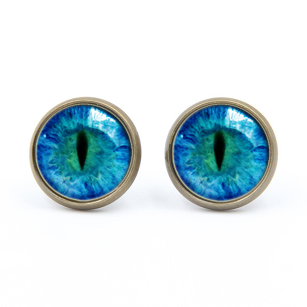 US $0.57 30% OFF|Fashion Dragon Eye Stud Earrings Blue Eye Ear Nail Sauron  Eye Earrings Handmade Glass Cabochon Earrings Women Jewelry Gift -in Stud  ...