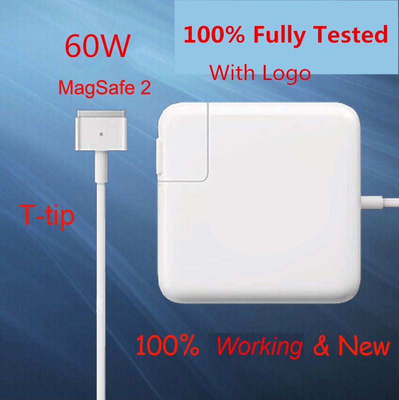 BINFUL For magsaf* 2 60W 16.5V 3.65A T tip laptop power adapter charger for apple Macbook pro 13