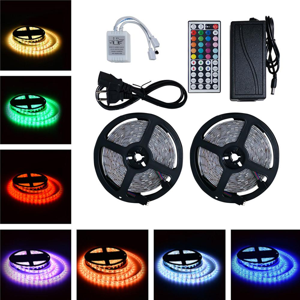 SOLLED 10M LED RGB Strip Lights IP65 Waterproof 300LEDs+44Keys Remote Control+AdapterSOLLED 10M LED RGB Strip Lights IP65 Waterproof 300LEDs+44Keys Remote Control+Adapter