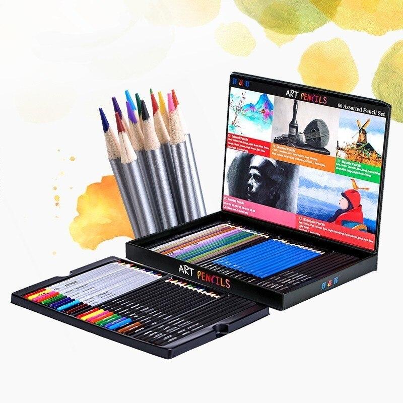Купить Professional цвет карандаш для эскизов набор краски Ing ...