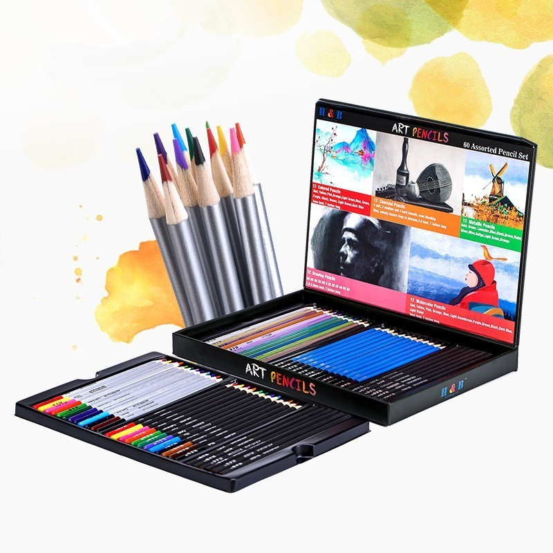 Professional Color Sketch Pencil Set For Painting Drawing School Art Supplies Artist Pen Colorful Wooden Paint Pencils 03159
