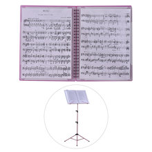 40 Pockets Multi-function Music Score Holder A4 Size Paper Sheet Document File Organizer Folder Guitar Accessories(China)
