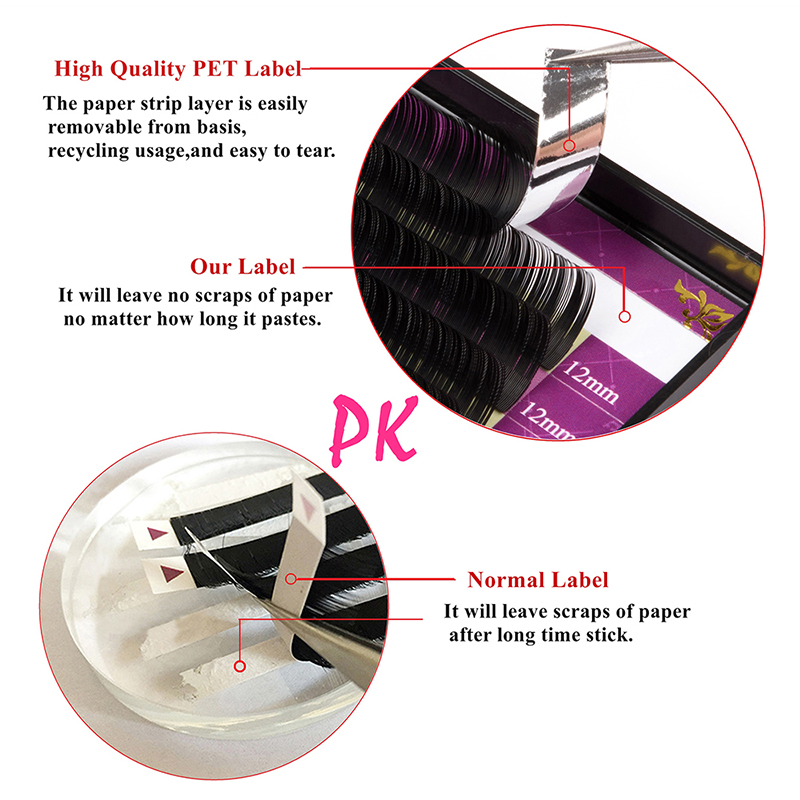 GLAMLASH 15Cases/Lot 16Rows handmade faux mink lash extension korea pbt natural soft eyelashex individual extension makeup cilia