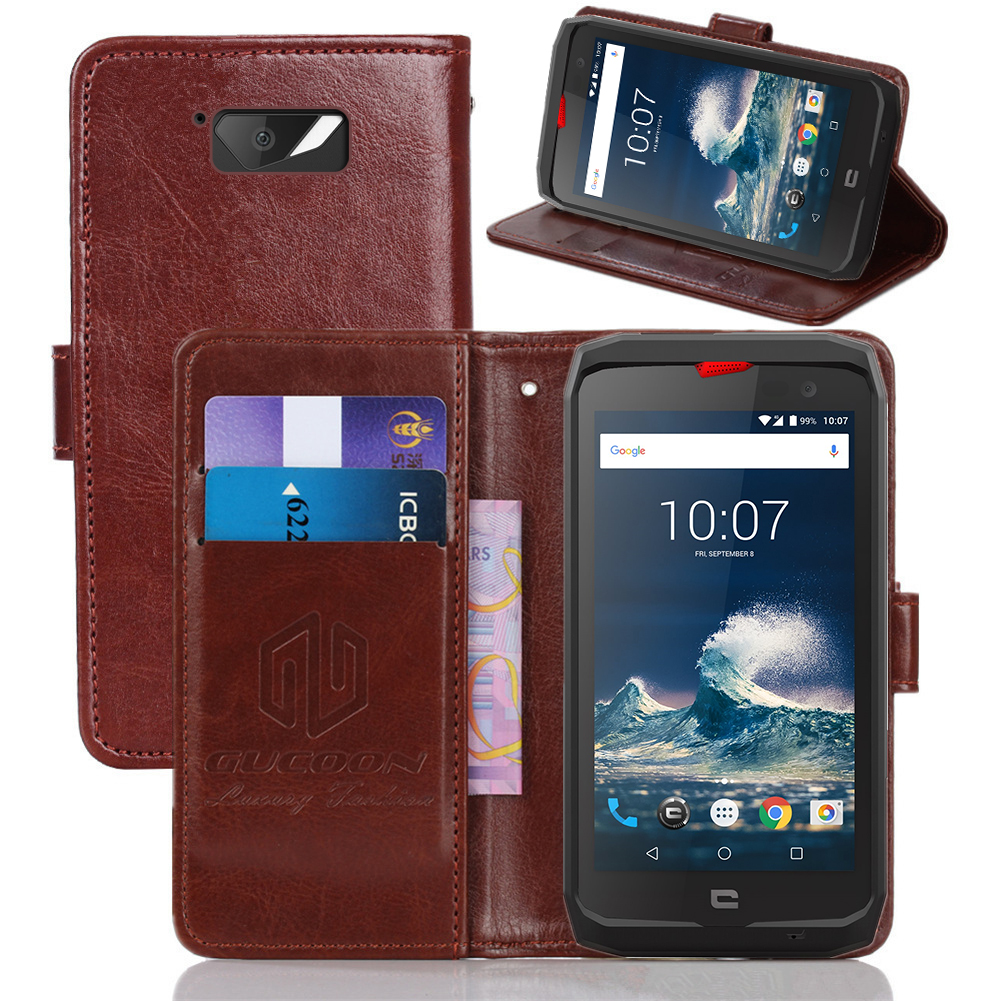 GUCOON Wallet Case for Crosscall ACTION-X3 Cover Phone Bag for Crosscall ACTION X3 CORE-X3 TREKKER-X3 Trekker-X2 Trekker-M1 Case