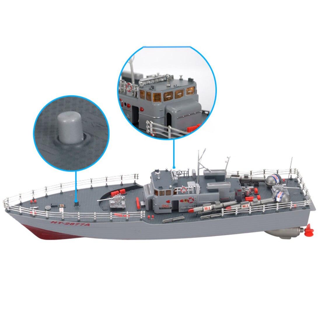 50 cm 1:115 RC bateau jouets télécommande bateau de guerre modèle militaire bateau jouet pour l'armée Fans présent cadeau-US Plug - 3