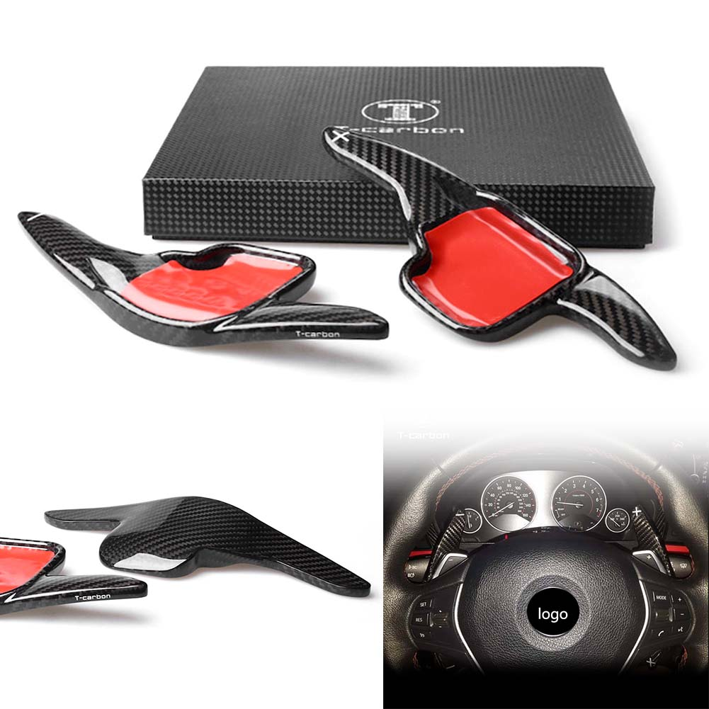 Car Styling Real Carbon Fiber Steering Wheel Extension Paddle Shift for BMW F30 F31 F32 F10