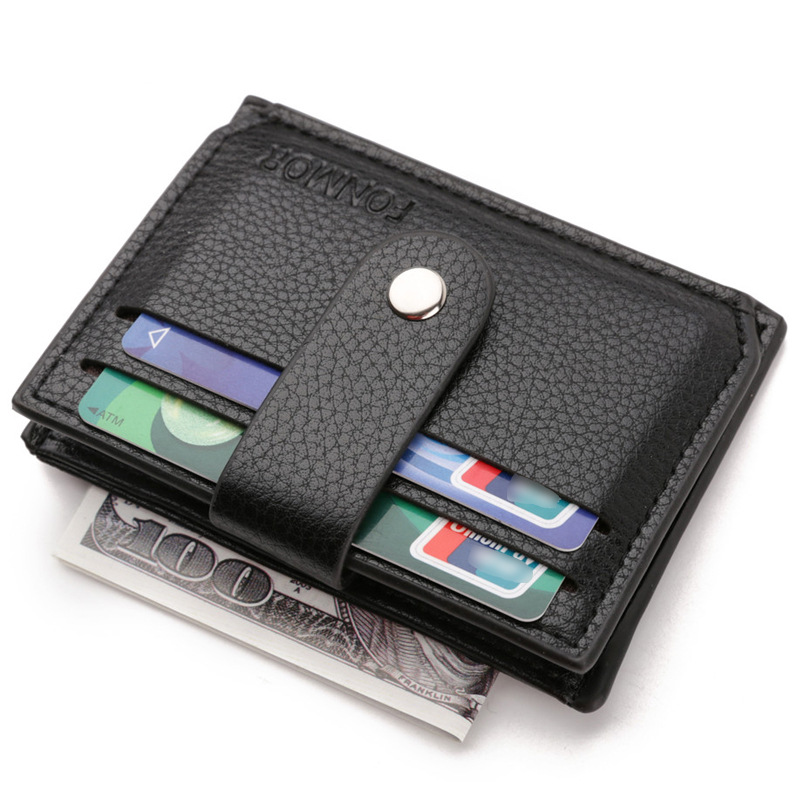 Minimalistic Wallet Male Slim Men Wallet With Coin Pocket Hasp Bifold ID Bank Credit Card Holders Business Zipper Coin Purse Man
