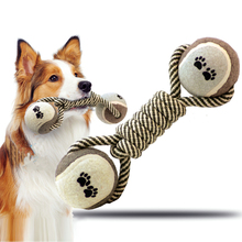 cotton knot ball Dog Toys For Large Dogs Pets bite molar tooth Training dog toy Teddy Bite cleaning pet