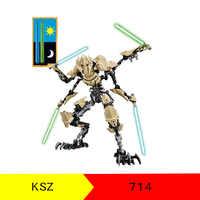 Ksz714 star wars figuras grievous robô rebeldes generais blocos de construção tijolo starwars crianças presentes brinquedos