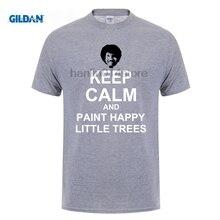 GILDAN Bob Ross Boss Keep Calm and Happy Little Trees T Shirt