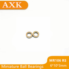 2019 Promotion Rushed Mr106rs Bearing Abec-3 (10pcs) 6x10x3 Mm Miniature Mr106-2rs Ball Bearings Orange Sealed Mr106 2rs цены