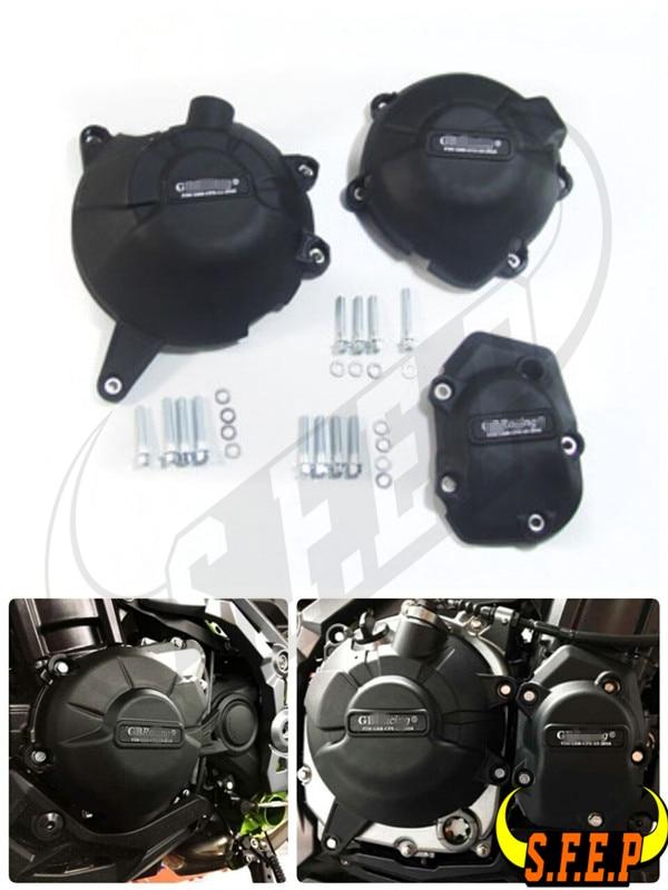 Motorcycle Engine Case Guard Protector Cover GB Racing For Kawasaki Z900 2017 2018 2019 Black