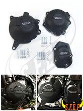 غلاف حماية لمحرك الدراجة النارية GB Racing متوافقة مع Kawasaki Z900 2017 2018 2019 2020 أسود