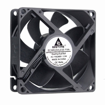 2 Pieces Gdstime 90mm 92mm x 25mm AC 110V 115V 120V 220V 240V Fan EC Brushless Cooling Cooler Fan Axial Fan ta15052hbl 2 axial cooling fan ac 220v 0 18a 17252 17cm 172 150 52mm 2 wires 50 60hz