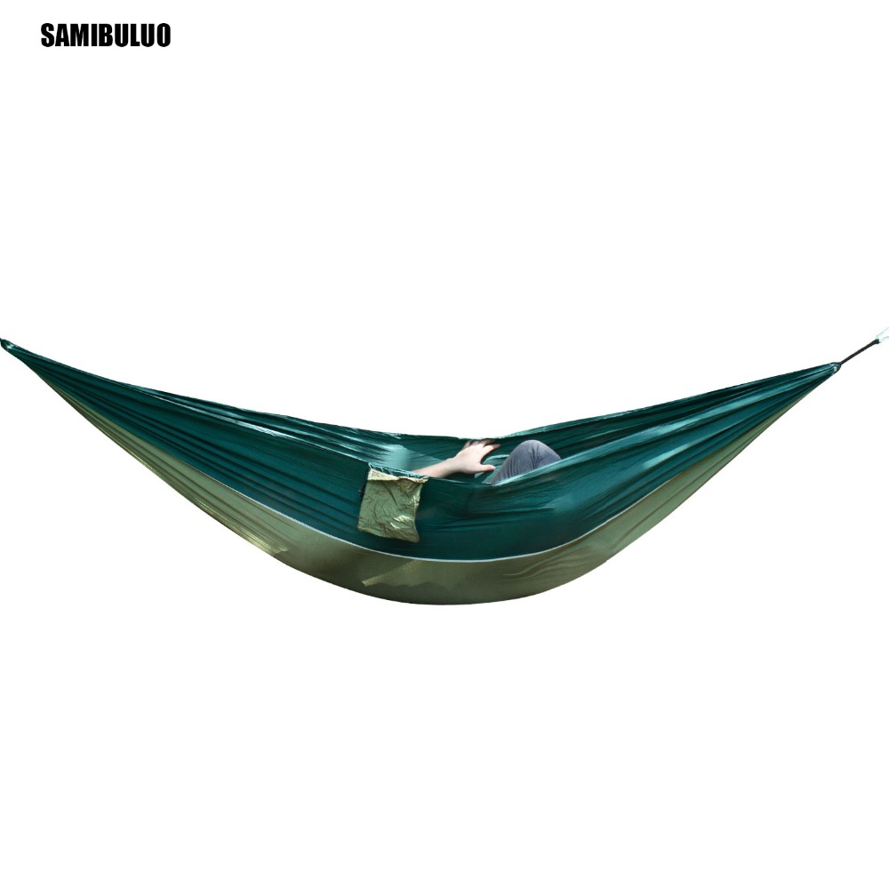 Portable 2 Person Outdoor Hammock Parachute Nylon Fabric Gamak For Travel Hiking Backpacking Camping Rede De Dormir