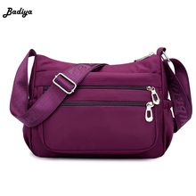 Waterproof Nylon Messenger Bags Women Mother Bag Fashion Single Shoulder Crossbody Casual Handbags
